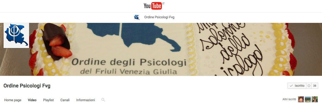 Canale Youtube Ordine Psicologi FVG